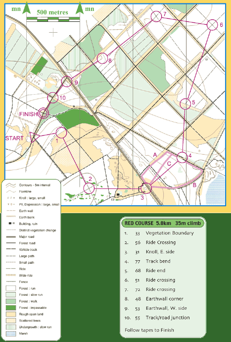 Example orienteering map.