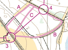 Sample route choices