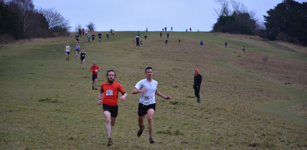Runners approach the finish of the 2014 Box Hill Fell Race. Photo courtesy of Katherine Heaton.