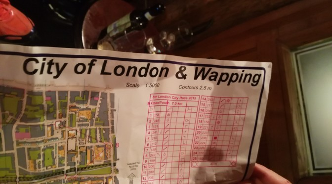 Results for the 8th London City Race